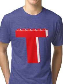 THE LETTER T by Customize My Minifig Tri-blend T-Shirt