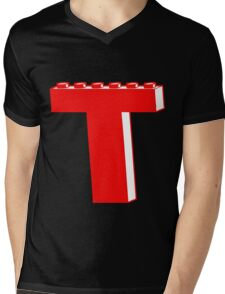 THE LETTER T by Customize My Minifig Mens V-Neck T-Shirt