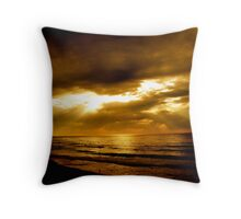 Good Morning Bar Beach Throw Pillow