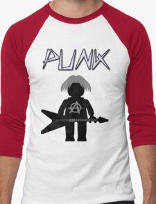 Punk Guitarist Minifig by Customize My Minifig Men's Baseball ¾ T-Shirt