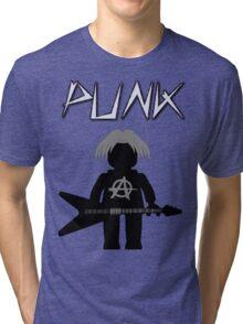 Punk Guitarist Minifig by Customize My Minifig Tri-blend T-Shirt