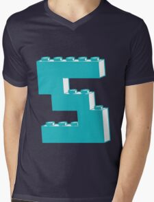 THE LETTER S by Customize My Minifig Mens V-Neck T-Shirt