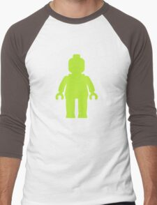 Minifig [Lime Green]  Men's Baseball ¾ T-Shirt