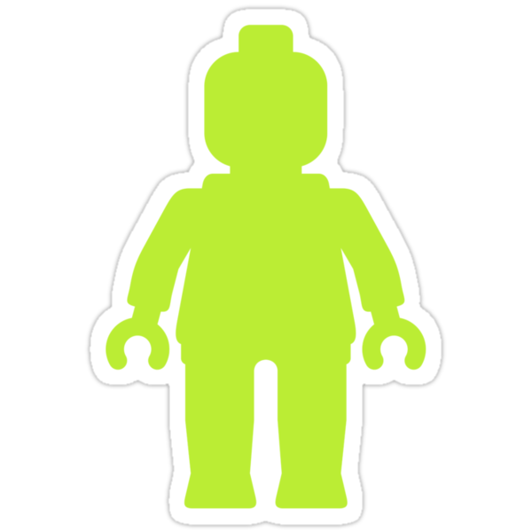 Minifig [Lime Green] by Customize My Minifig by ChilleeW