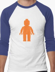 Minifig [Orange]  Men's Baseball ¾ T-Shirt
