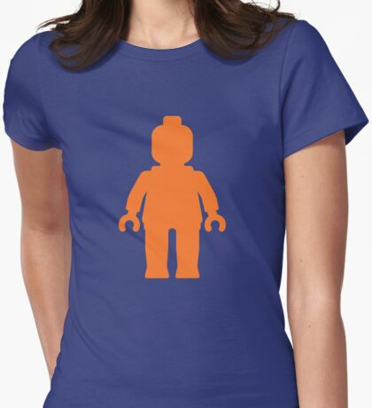 Minifig [Orange]  Womens Fitted T-Shirt