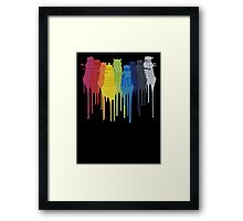 Dalek Extermination Rainbow Framed Print