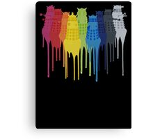 Dalek Extermination Rainbow Canvas Print