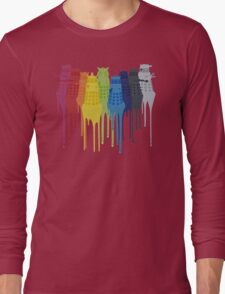 Dalek Extermination Rainbow Long Sleeve T-Shirt