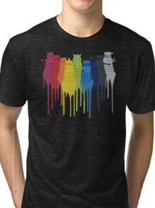 Dalek Extermination Rainbow Tri-blend T-Shirt