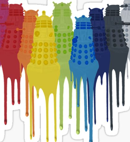 Dalek Extermination Rainbow Sticker