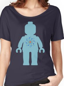 Minifig with Atom Symbol  Women's Relaxed Fit T-Shirt