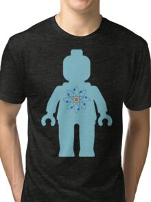 Minifig with Atom Symbol  Tri-blend T-Shirt