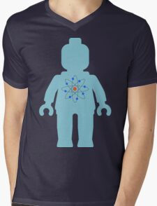 Minifig with Atom Symbol  Mens V-Neck T-Shirt
