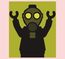 Apocalyse Minifigure wearing Gasmask One Piece - Long Sleeve