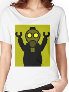 Apocalyse Minifigure wearing Gasmask Women's Relaxed Fit T-Shirt