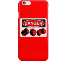 Danger Bricks Sign  iPhone Case/Skin