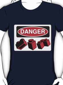 Danger Bricks Sign  T-Shirt
