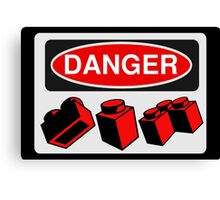 Danger Bricks Sign  Canvas Print