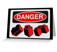 Danger Bricks Sign  Greeting Card