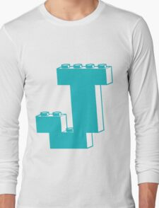 THE LETTER J by Customize My Minifig Long Sleeve T-Shirt