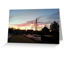 Dusk in Winter Greeting Card