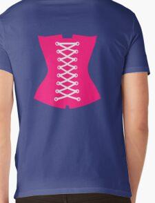 Pink Corsage Mens V-Neck T-Shirt