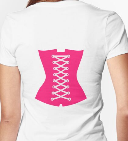 Pink Corsage Womens Fitted T-Shirt