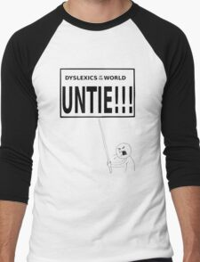 Dyslexics of the world UNTIE!!! Men's Baseball ¾ T-Shirt