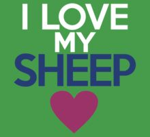I love my sheep by onebaretree