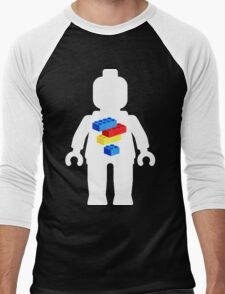 White Minifig with Bricks Logo by Customize My Minifig T-Shirt