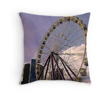 Skyscraper Wheel Throw Pillow