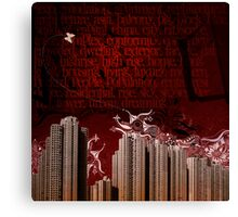 Urban Tagging - Dark City Canvas Print