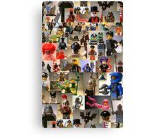 Custom Minifigure Collage  Canvas Print