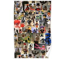 Custom Minifigure Collage  Poster