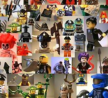 Custom Minifigure Collage  by Customize My Minifig