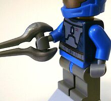Blue Spartan Soldier Custom Minifig by Chillee