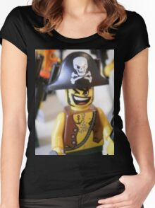 Pirate Captain Minifigure with Flame Women's Fitted Scoop T-Shirt