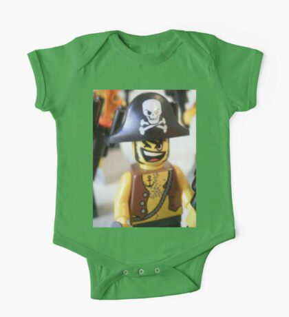 Pirate Captain Minifigure with Flame One Piece - Short Sleeve