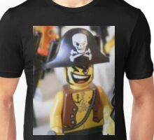 Pirate Captain Minifigure with Flame Unisex T-Shirt