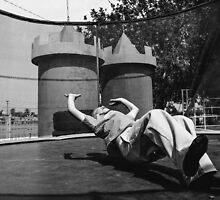 Boy on a Trampoline  by Robert Larson
