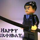 Happy Birthday Greeting Card Japanese Yakuza Gokudō Gangster Custom Minifig by Customize My Minifig