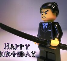 Happy Birthday Greeting Card Japanese Yakuza Gokudō Gangster Custom Minifig by Chillee