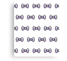 Pixel Ribbon Bow Pattern (lavender) Canvas Print