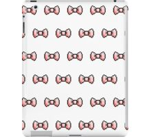 Pixel Ribbon Bow Pattern (pink) iPad Case/Skin