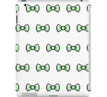 Pixel Ribbon Bow Pattern (mint) iPad Case/Skin
