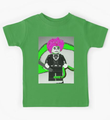 Evil Magician Custom Minifigure with Magic Wand & Snake Kids Tee