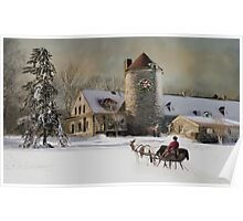 One horse Open Sleigh Poster