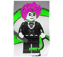 Evil Magician Custom Minifigure with Magic Wand & Snake Poster