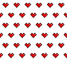 Pixel Heart Pattern Photographic Print